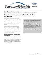 2011-30 - ForwardHealth Portal