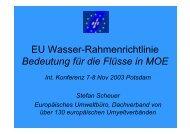 EU Wasser-Rahmenrichtlinie Bedeutung für die ... - Europa im Fluss