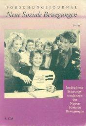 Vollversion (8.07 MB) - Forschungsjournal Soziale Bewegungen