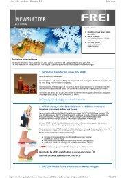 Newsletter : Dezember 2009 - Frei AG