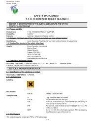 safety data sheet ttc thickened toilet cleaner - Evans Vanodine ...