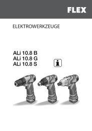 ALi 10.8 B ALi 10.8 G ALi 10.8 S - FLEX