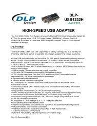 DLP- USB1232H HIGH-SPEED USB ADAPTER - FTDI