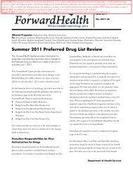 Summer 2011 Preferred Drug List Review - ForwardHealth Portal