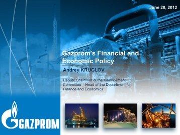 Presentation - Gazprom