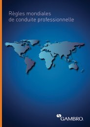 Read the Gambro Global Standards of Business Conduct here