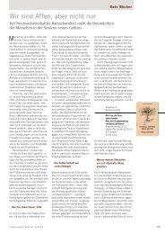 Forschung Frankfurt | Ausgabe 1-2013 | Wir sind Affen, aber nicht ...