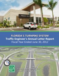 Traffic Engineer's Annual Letter Report Fiscal ... - Florida's Turnpike