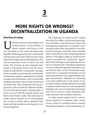 Decentralisation in Uganda Rhetoric-Chapter3. - Foodnet