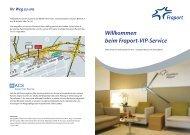Broschüre VIP-Service - Flughafen Frankfurt