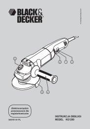 INSTRUKCJA OBSŁUGI MODEL KG1200 - Service - Black & Decker