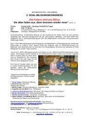 2. SOAL-BILDUNGSKONGRESS - Freinet-Kooperative eV