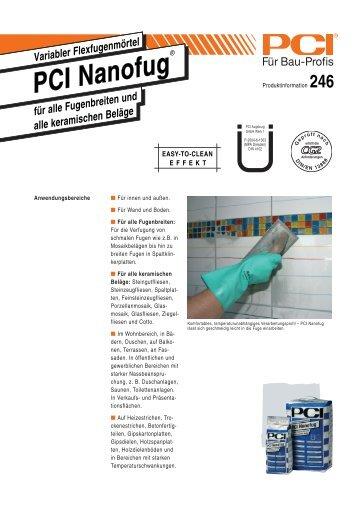 PCI Nanofug ( Fugenmörtel ) - Fliesen Lerche