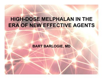 high-dose melphalan in the era of new effective agents