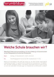 Welche Schule brauchen wir? - Forum Bildung