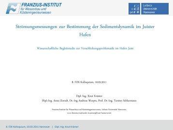 Hydro-morphodynamisch-numerische Simulationen zum Einfluss ...