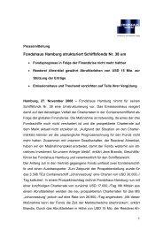 Fondshaus Hamburg strukturiert Schiffsfonds Nr. 38 um