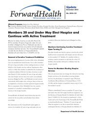 ForwardHealth Update 2010-121 - Members 20 and Under May ...