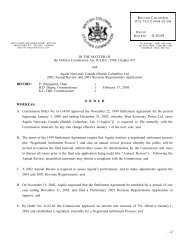 2003 Revenue Requirements Order G-10-03 - Negotiated ... - FortisBC