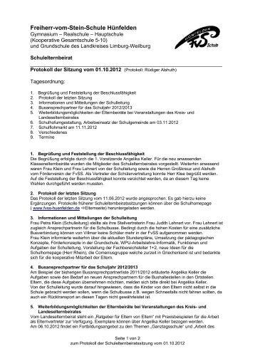 01. Oktober 2012 - Freiherr-vom-Stein-Schule