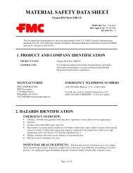 Oxygen BioChem (OBC)® - FMC Corporation