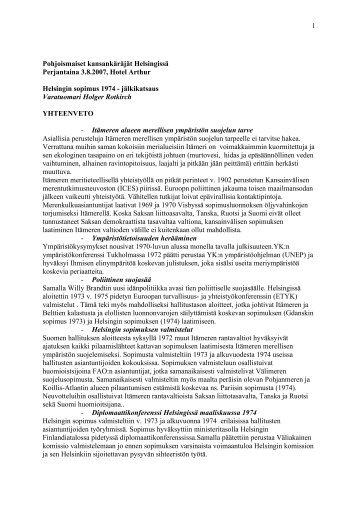 1 Pohjoismaiset kansankäräjät Helsingissä Perjantaina ... - Frit Norden