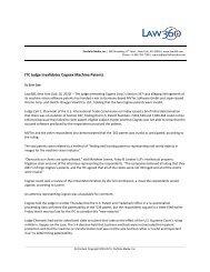 ITC Judge Invalidates Cognex Machine Patents - Foley & Lardner LLP