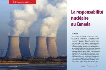 La responsabilité nucleaire au Canada - Fraser Institute