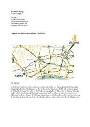 allgemeine Wegbeschreibung und Anfahrtsskizze als ... - Villa Orange