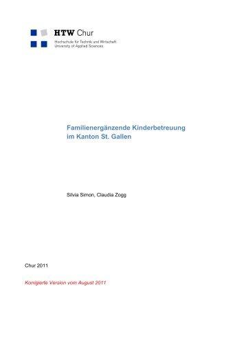 Familienergänzende Kinderbetreuung im Kanton St. Gallen - Amt für ...