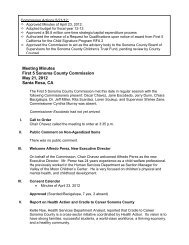Commission Meeting Minutes 5/21/12 - First 5 Sonoma County