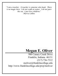 to print resume. - Franklin College