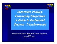 Guide to Residential Transformation - Fivecountymh.org