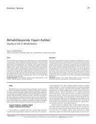 Rehabilitasyonda Yaflam Kalitesi - FTR Dergisi