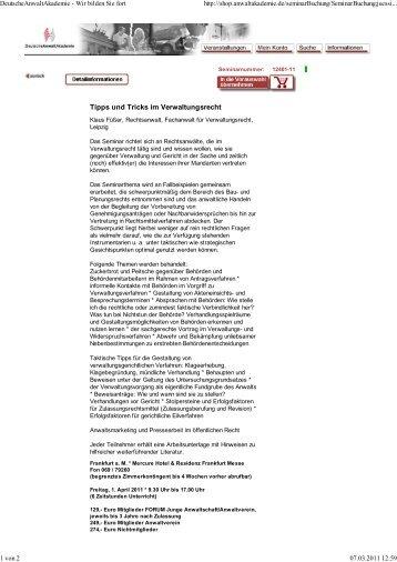 Tipps und Tricks im Verwaltungsrecht