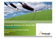 Freescale Solutions for Smart Grid 智能电网解决方案 - 飞思卡尔半导体