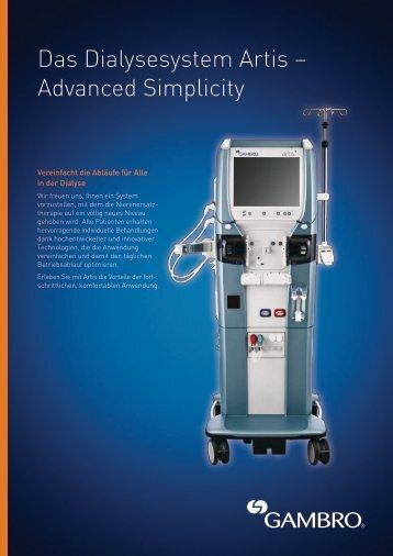 Das Dialysesystem Artis – Advanced Simplicity - Gambro