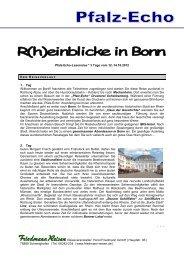 Pfalz-Echo-Leserreise * 3 Tage vom 12. - Friedmann-Reisen