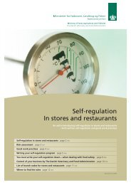 Self-regulation In stores and restaurants - Fødevarestyrelsen