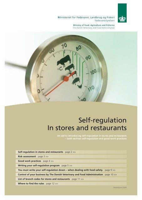 Self-regulation In stores and restaurants - Fødevarestyrelsen
