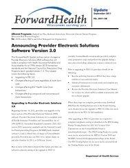 ForwardHealth Update 2011-58 - ForwardHealth Portal