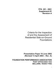 Criteria for the Inspection of and the Assessment of Residential Slab ...