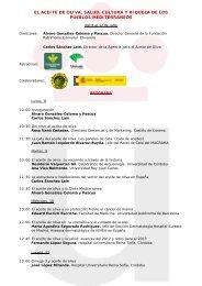 El aceite de oliva, salud, cultura y riqueza de los pueblos ...