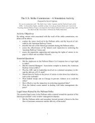The U.S. Strike Commission—A Simulation Activity - Federal Judicial ...