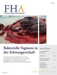 Bakterielle Vaginose in der Schwangerschaft - Frauenheilkunde ...