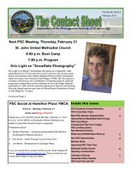 February 2013 - Photographic Society of Chattanooga