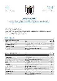 München package for incoming students - Technische Universität ...