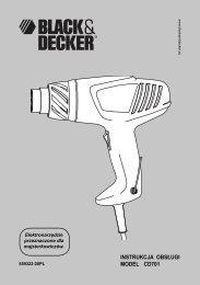 INSTRUKCJA OBSŁUGI MODEL CD701 - Service - Black & Decker