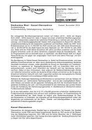 Stadtumbau West Planungsamt Stadt Kassel - Frauentreff Brückenhof