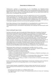 Datenschutz im Schützenverein. (Info Hr. Bartels)